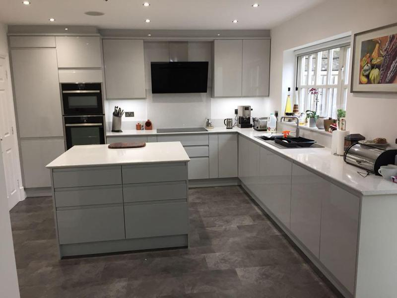 Image 41 - new kitchen refurb.replastered and new units, quartz worktop with sharknose edging. lvt flooring