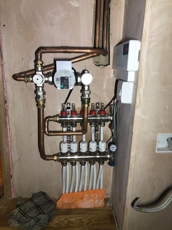 Image 11 - New underfloor heating keeping our customers nice and warm in them colder months.