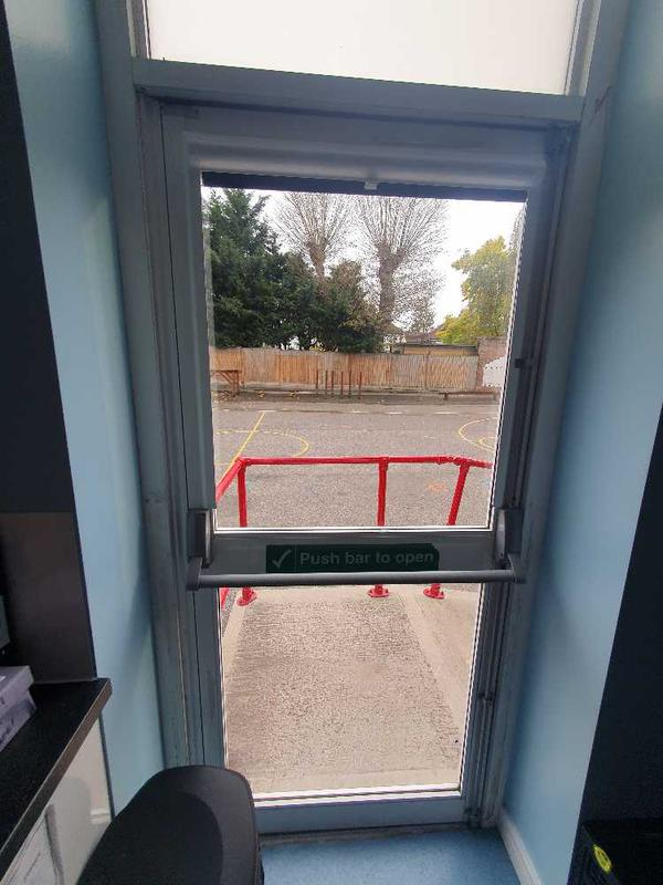 Image 12 - New safety glass installed into one of our schools.