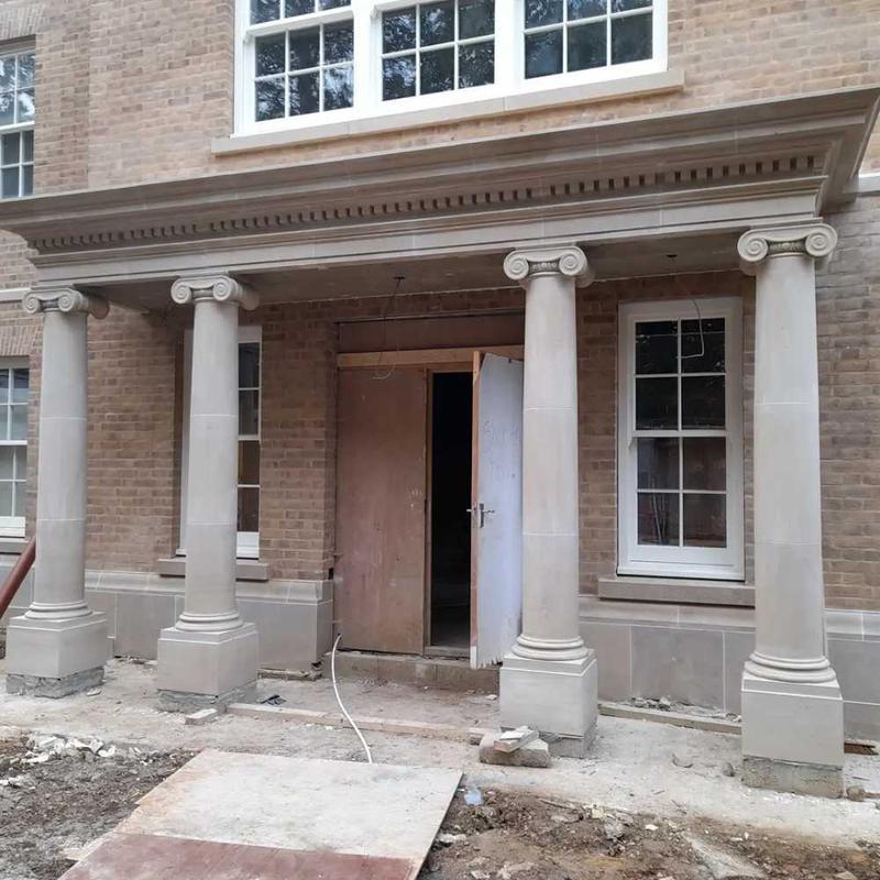 Image 15 - portland stone entrance portico. 60 piece designed and built on site
