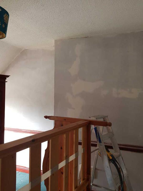 Image 46 - all walls in the 1920 bedroom where stripped if wall paper. skimmed and filled cracks. oil base sealer applied to wall at this stage