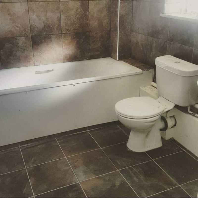 Image 7 - Porcelain walls and floor tiles use to spruce up an old bathroom. End of stock material used. Islington