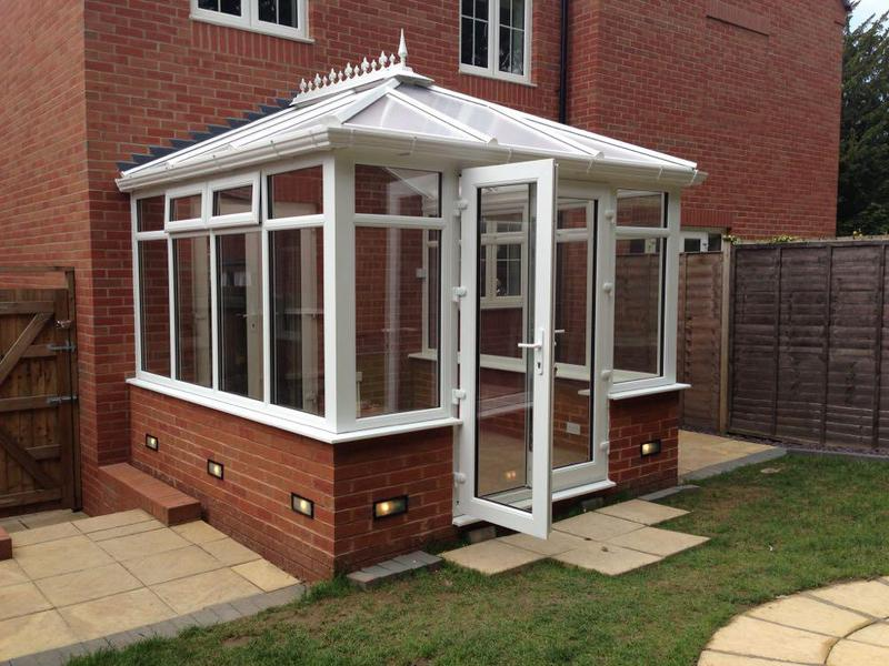 Image 25 - 3mtr x 3mtr Edwardian conservatory including brick base dwarf wall 2 double sockets plus fanlight fully fitted £5250.00