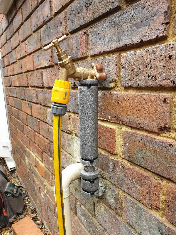 Image 9 - Outside tap burst and leaking, Chertsey #4.