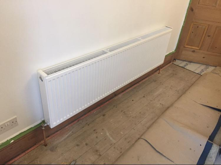 Image 11 - pipe work rerouted and radiator fitted