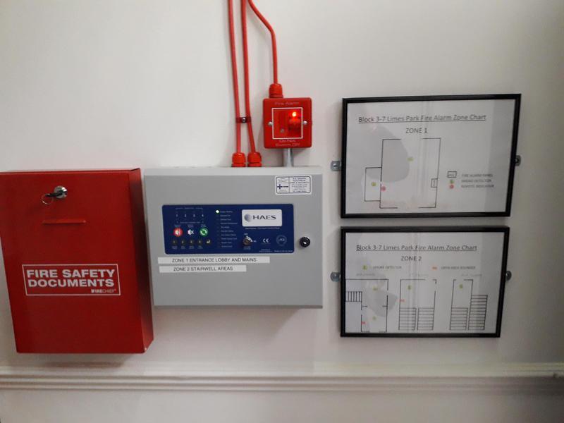 Image 2 - fire alarm install