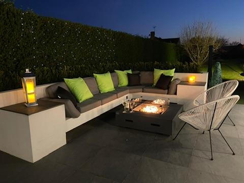 Image 2 - Rendered seating area with planter and Fire Pit