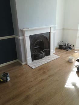 Image 20 - New Mantel and fireplace installed