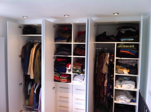 Image 44 - High gloss white wardrobes interiors.