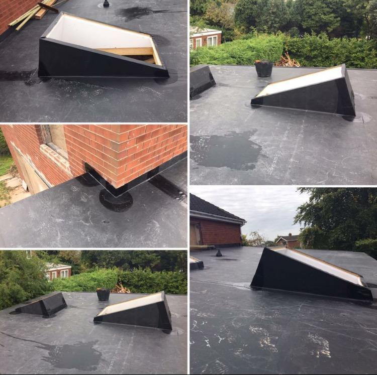 Image 14 - Rubbercover Artwork on this flat roof
