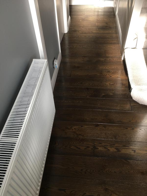 Image 65 - 12mm Plywood flooring sheets fitted, vapour barrier/sound and thermal underlay laid over it
