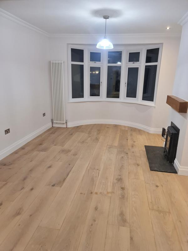 Image 25 - AFTER. Living room renovation, Hoxton.Squeaky floor fixed, new skirtings and covings, prepare and painting the walls, ceilings