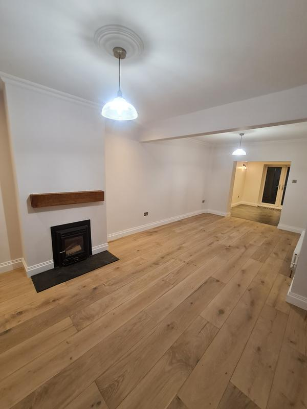 Image 23 - AFTER. Living room renovation, Hoxton.Squeaky floor fixed, new skirtings and covings, prepare and painting the walls, ceilings