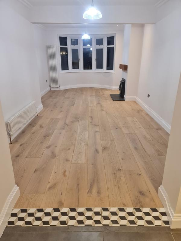 Image 24 - AFTER. Living room renovation, Hoxton.Squeaky floor fixed, new skirtings and covings, prepare and painting the walls, ceilings