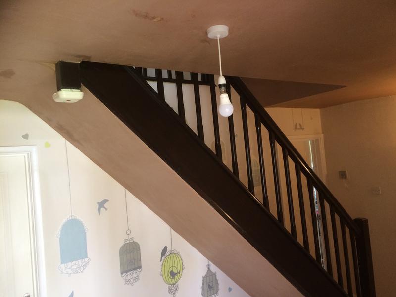 Image 34 - Artex hall ceiling. PVA and plastererd.