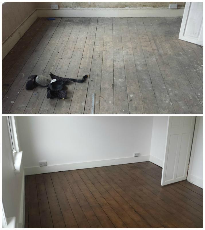 Image 41 - Original floorboards refurbished and varnished.