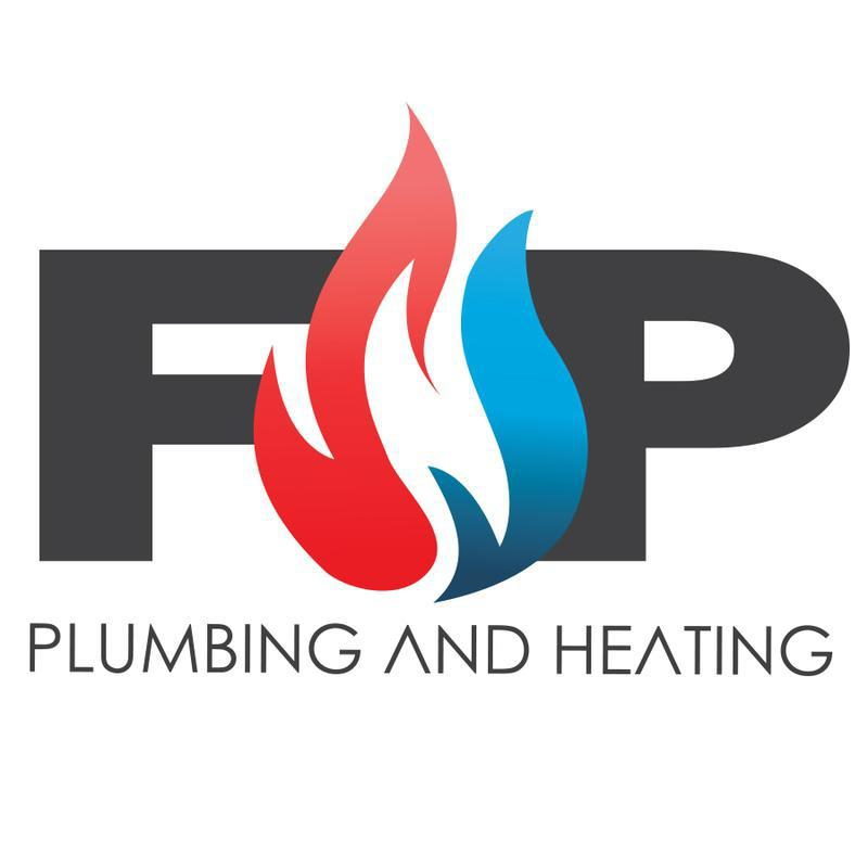 F&P PLUMBING AND HEATING logo