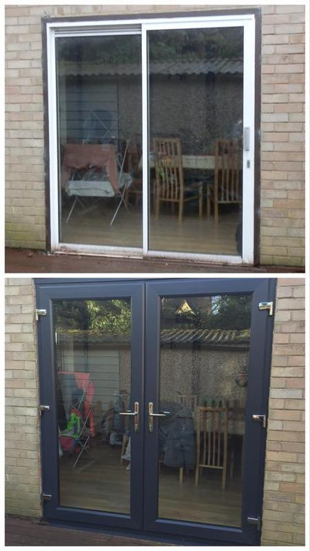 Image 30 - French door upgrade - anthracite grey
