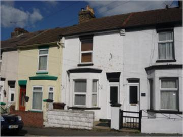 Image 14 - I repainted the front of the house on the right black and white