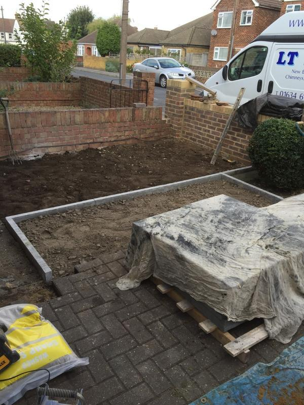 Image 23 - Extending driveway and frontwall