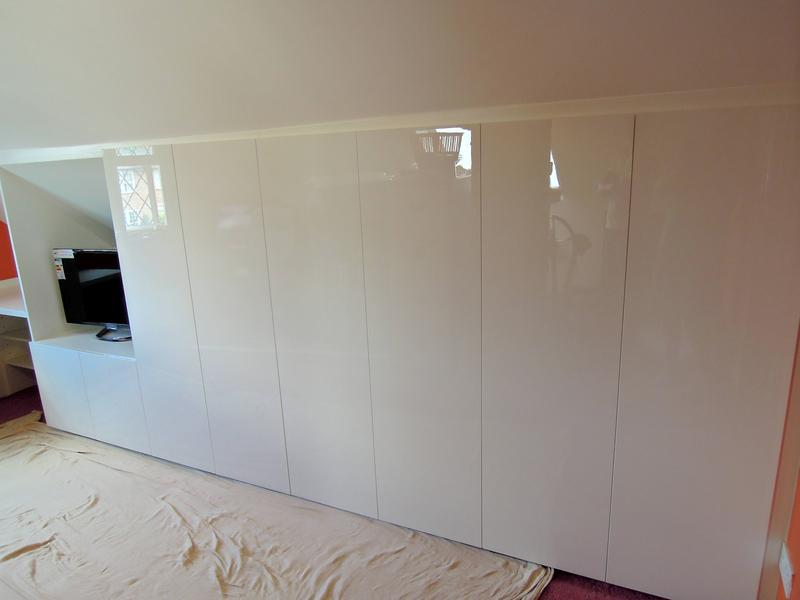 Image 8 - Bespoke White High Gloss Attic Storage