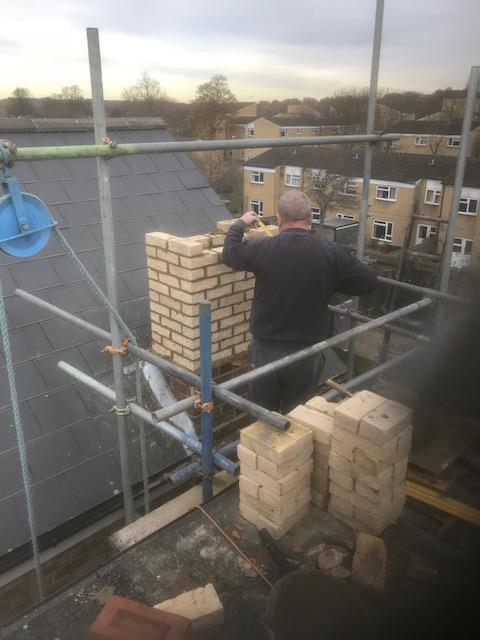 Image 113 - Chimney re-building in Putney South West London