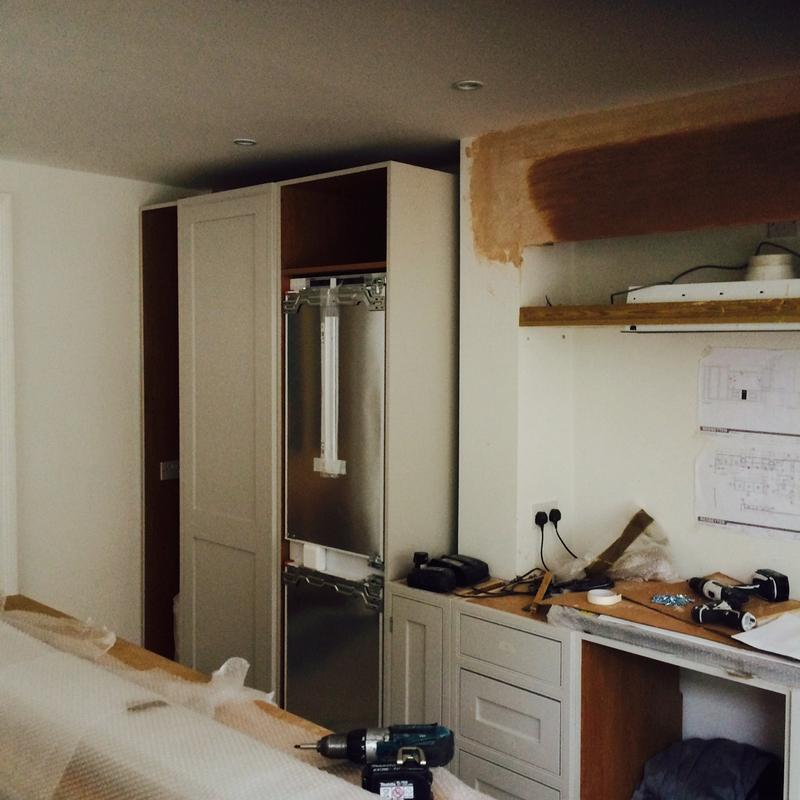 Image 35 - Bespoke English kitchen stage 3 (setting up the units).