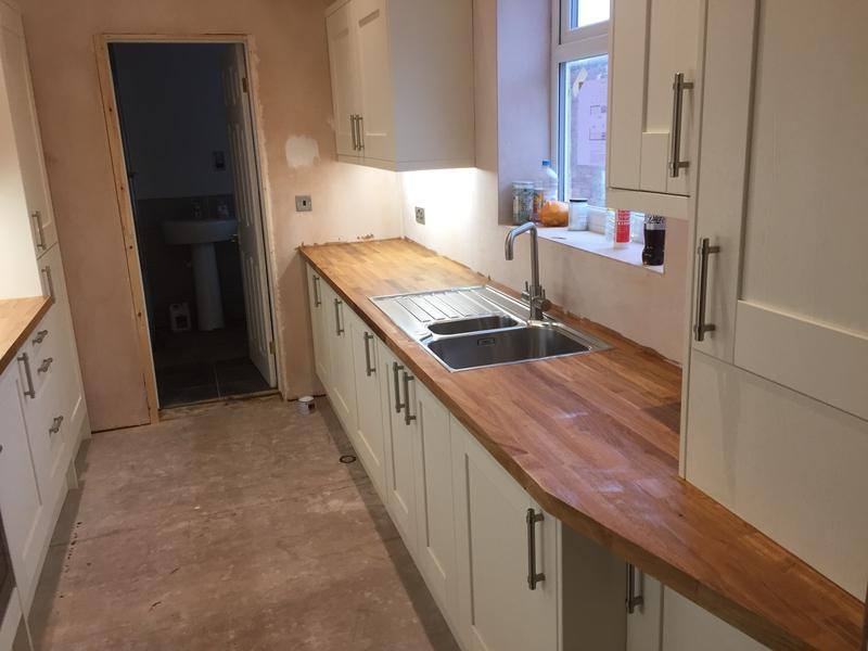 Image 29 - Unit to the right that sits on the worktop was custom made for the boiler