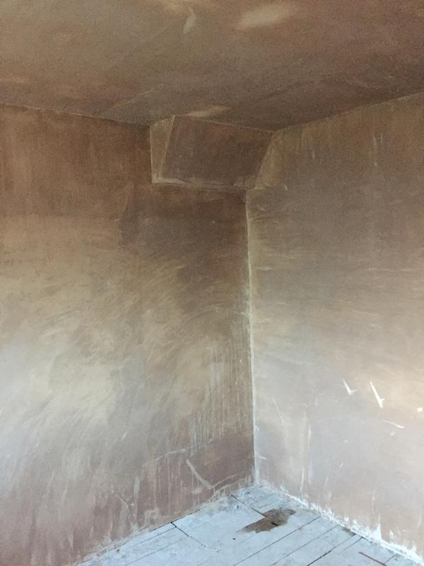 Image 32 - Bedroom plastered over gallows bracket installation, by DKM Developments Ltd, builders, Great Dunmow, Essex