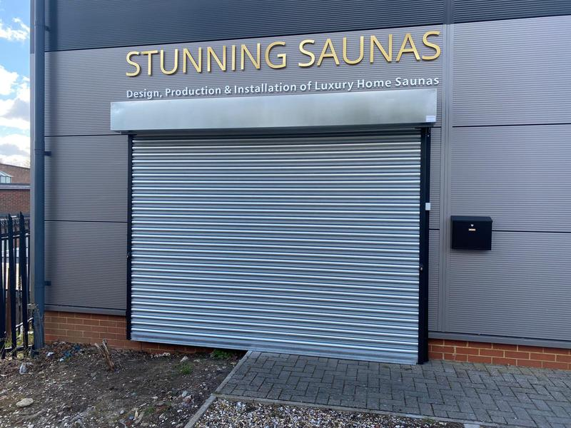 Image 3 - Galvanised Electric Roller Shutter recently installed in Wokingham RG41