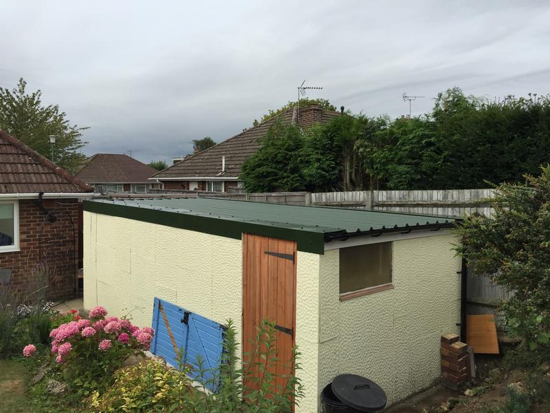 Image 21 - New Garage Roof Using Anti condensation Roof Sheets