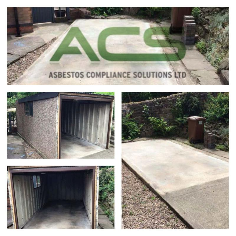 Image 2 - Before and after photos of a recent garage removal we carried out.
