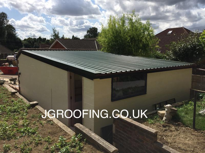 Image 4 - New Garage Roof After In Maidstone Using Full Length Anti Condensation Roof Sheets