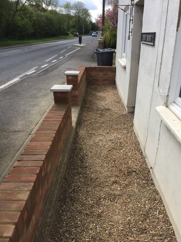 Image 9 - Garden wall built in Takeley by DKM Developments Ltd builders Great Dunmow Essex