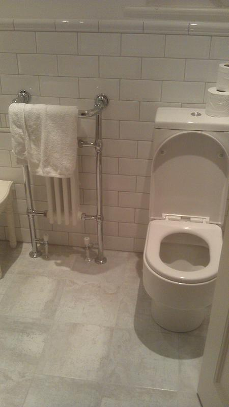 Image 16 - New towel rail holder and toilet fitted.