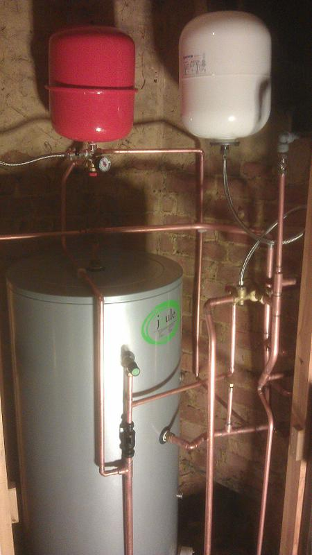 Image 17 - New Unvented hot water cylinder fitted