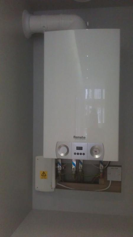 Image 18 - New boiler fitted in cupboard