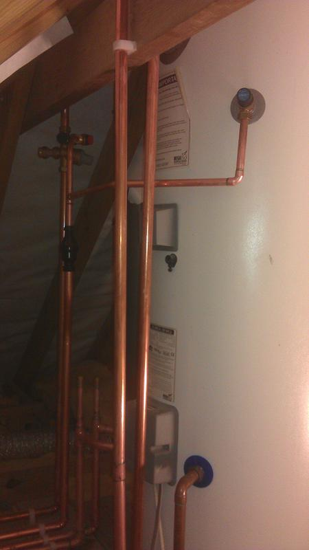 Image 19 - New Unvented hot water cylinder fitted in loft.