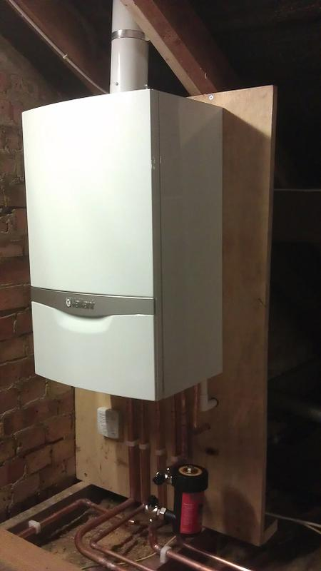 Image 34 - New boiler fitted in a loft.