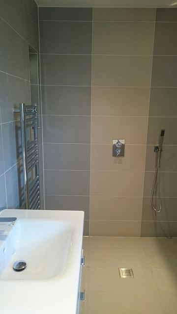 Image 29 - New wetroom floor shower enclosure and bathroom suite.