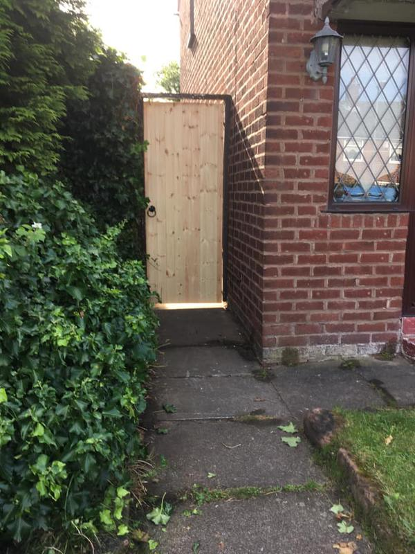 Image 3 - New gate fitted with path over growth cut back.
