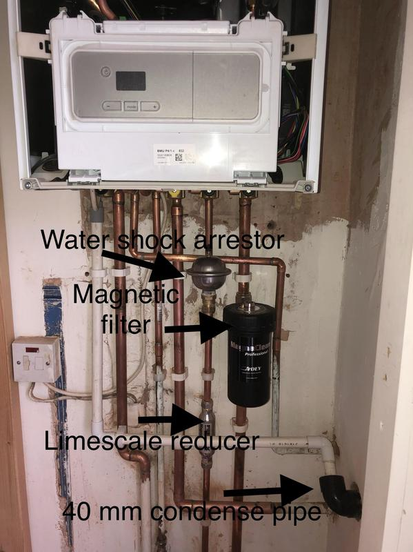 Image 7 - Glow Worm Ultimate 30C combi Boiler installation with Adey magnetic filter, limescale reducer, shock arrestor, power flushing
