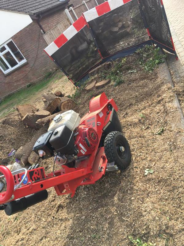 Image 4 - Our new stump grinder in action