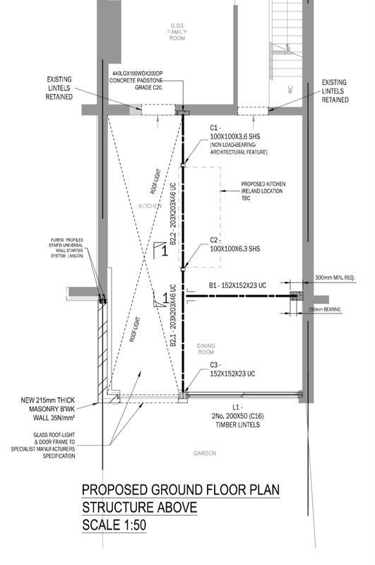 Image 3 - Rear and Side Extension. Floor Plan. East London.