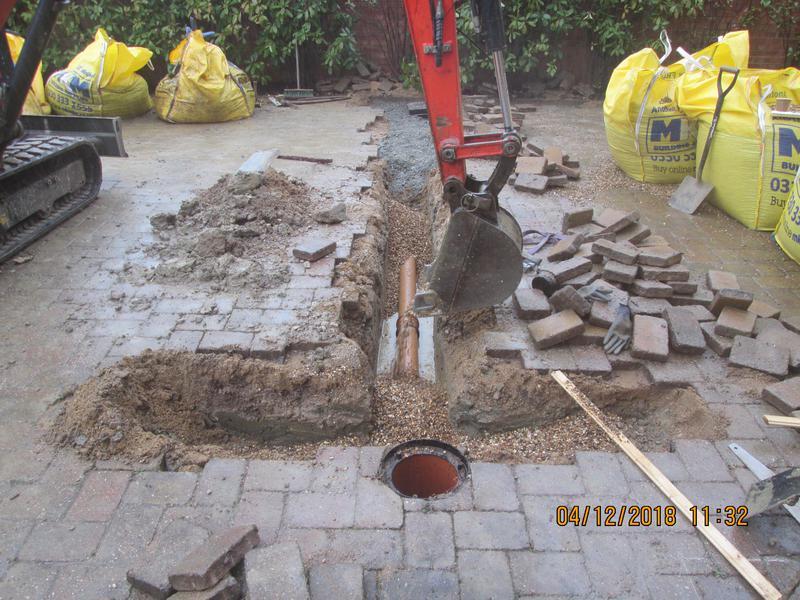 Image 18 - Milton Keynes new drainage connection