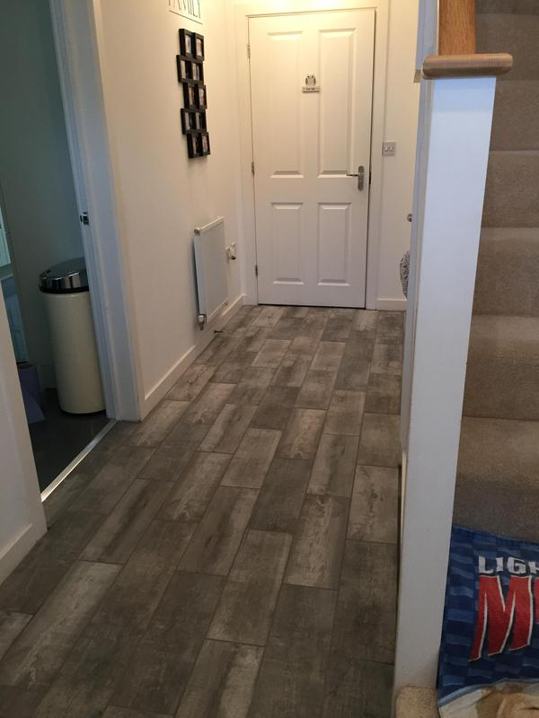 Image 5 - Hallway floor tiling 2 Little Canfield Essex by DKM Developments Ltd builders Great Dunmow