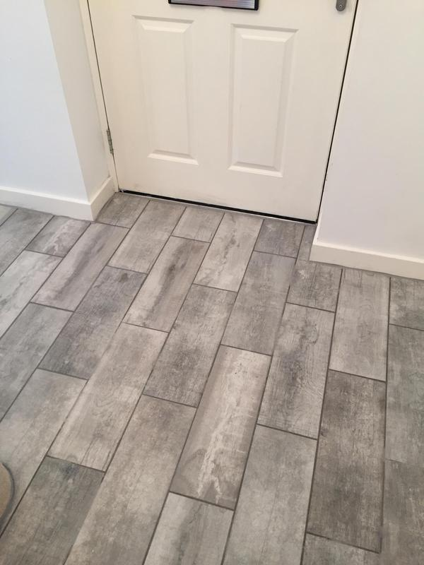 Image 4 - Hallway floor tiling Little Canfield Essex by DKM Developments Ltd builders Great Dunmow