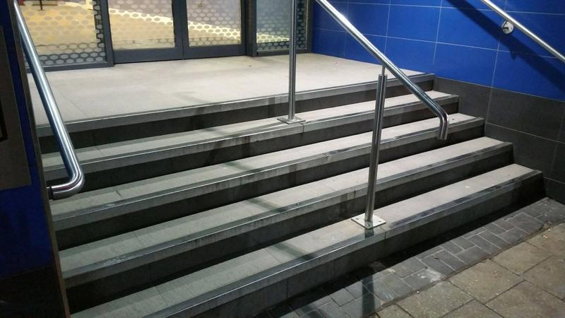 Image 16 - Commercial hospitality exterior project for hotel chain Hampton by Hilton. Entrance steps renovation