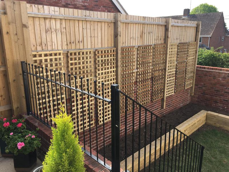 Image 72 - New trellis panels with new raised sleeper beds, Charminster