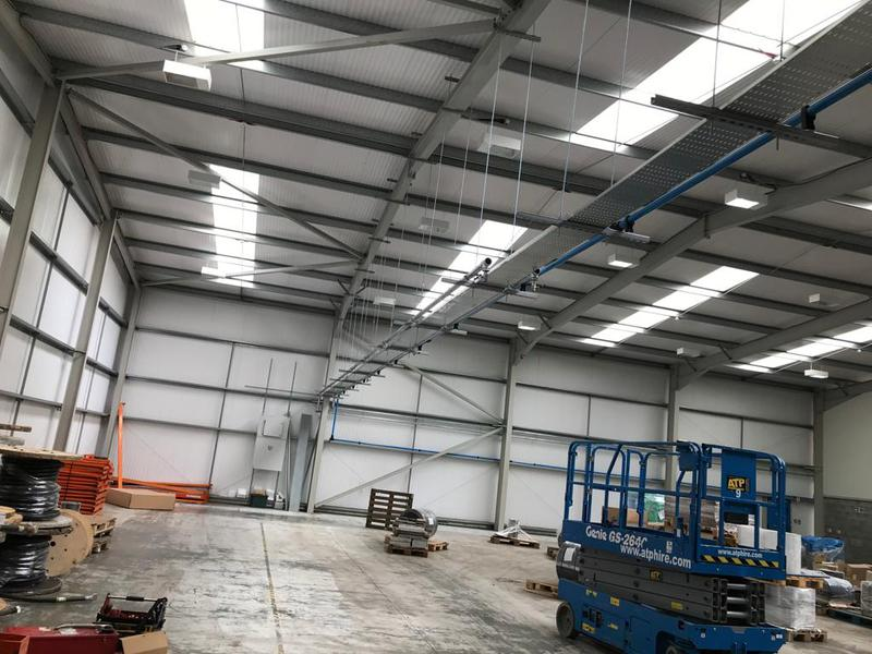 Image 1 - high level commercial cable tray install